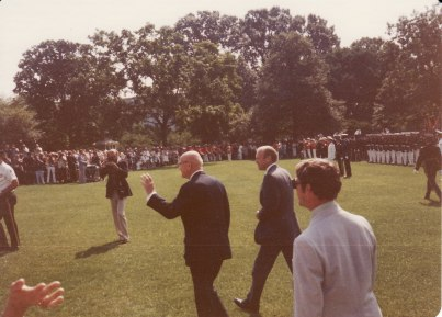 Gerald Ford at the White House during a visit.